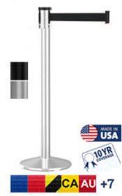 320 Series Long Span Retractable Belt Barrier, 15′