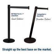 Value Visiontron Retractable Belt Post, 10′