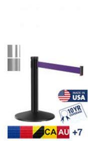 Mini Display 23″ Tall Retractable Belt Post, 10′