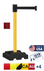 Utility Safety 300 Series Long Span Retractable Belt Stanchion 15′
