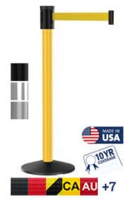 Outdoor 300 Series Long Span Crowd Control Stanchion, 15′
