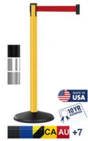 Outdoor 300 Series Retractable Belt Barrier, 10′