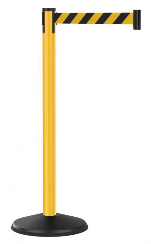 Economy Yellow Post with Retractable Black Yellow Diagonal Belt
