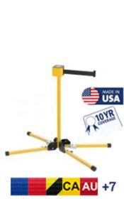 SM412 Series Outdoor Long Span Crowd Control Barrier Stand Mount, 30′