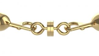 Magnetic Breakaway for Stanchion Rope Polished Brass
