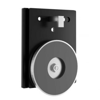 Magnetic Smooth Black Wall Mounting Plate
