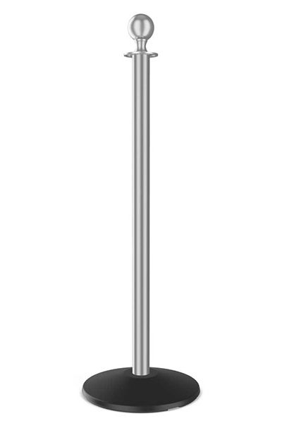 Outdoor Ball Top Satin Stainless Steel Rope Stanchion Post