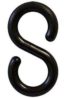 Plastic Chain S Hook Black