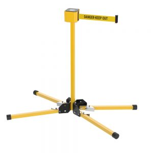 Premium Retractable Stand Mount 30 Foot Danger Keep Out Belt