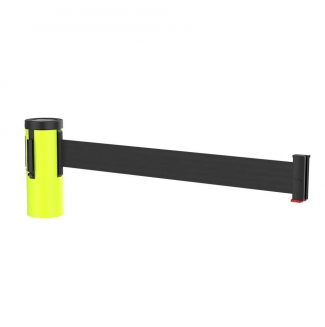 Retractable Florescent Yellow Traffic Cone Topper with Black Belt