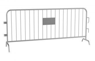 8 Foot Galvanized Steel Barrier Interlocking Barricade with Bridged Feet
