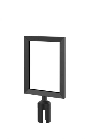 Value Smooth Black Sign Frame with Adapter 8.5x11