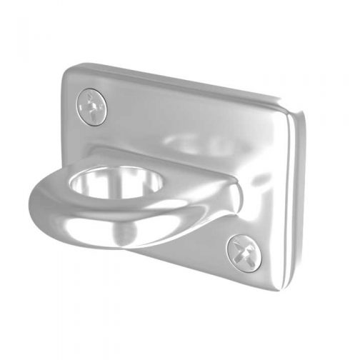 Wall Plate Polished Chrome for Rope Stanchions