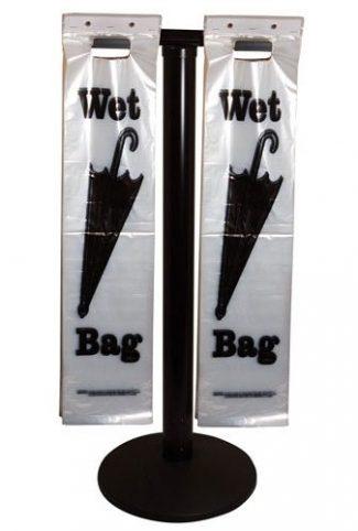 Wet Umbrella Bag Stand Black Post