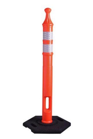 Economy Traffic Delineator Tube Orange