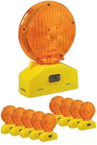 Traffic Safety Barricade LED Light 10 Pack