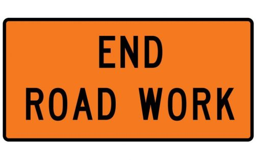 Traffic Safety Roll Up Sign End Road Work