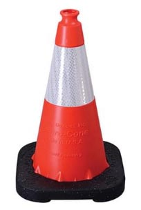 Value Reflective Traffic Cone Orange 18in