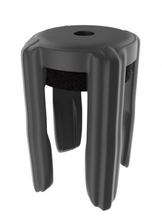 Black Slotted Crowd Control Sign Post Cap Adapter