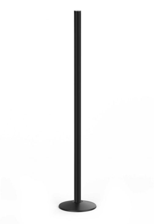 Premium Outdoor Six Foot Tall Sign Black Aluminum Post with ABS Base