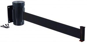 Value Black Retractable Black Belt Wall Mount