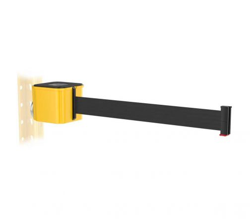 Premium Yellow Retractable Black Belt Magnetic Wall Mount