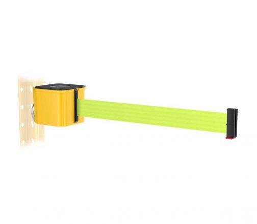 Premium Yellow Retractable Florescent Yellow Belt Magnetic Wall Mount