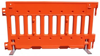 Premium Interlocking Plastic Barrier Orange
