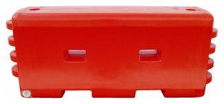 Premium Interlocking Water Barrier Orange