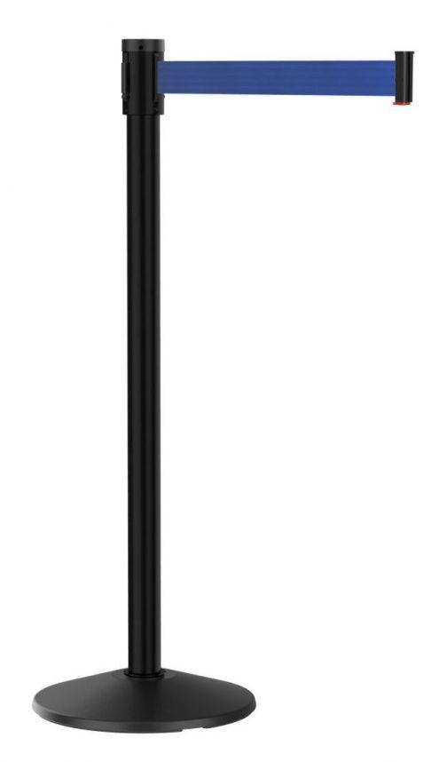 Slim Line Visiontron Black Aluminum Blue Belt Post 10'