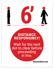 Direction Dots Sign Insert, 8.5″ x 11″