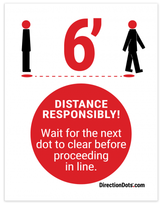 Direction Dots Sign Insert