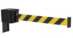 Value Black Retractable Yellow Black Diagonal Belt Wall Mount