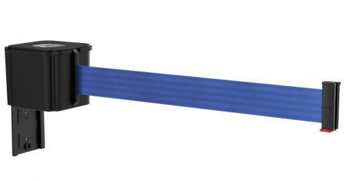 Value Black Retractable Blue Belt Wall Mount