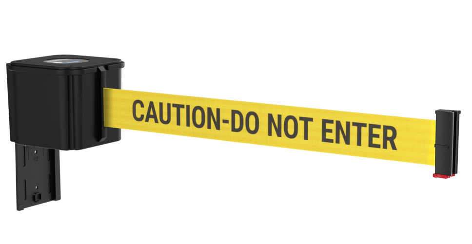 Value Black Retractable Caution Do Not Enter Belt Wall Mount