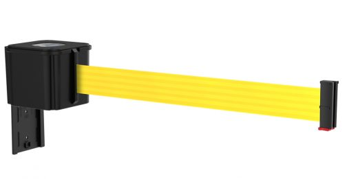 Value Black Retractable Yellow Belt Wall Mount
