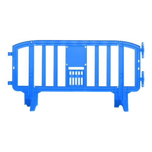 Premium Interlocking Plastic Barricade Events Blue