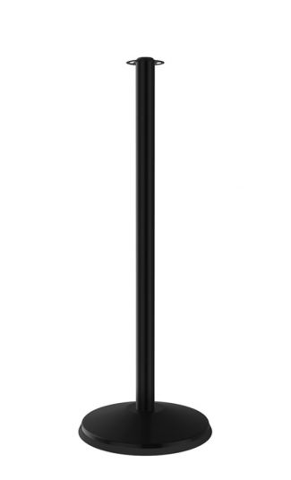 Prime Flat Top Rope Stanchion Solid Black